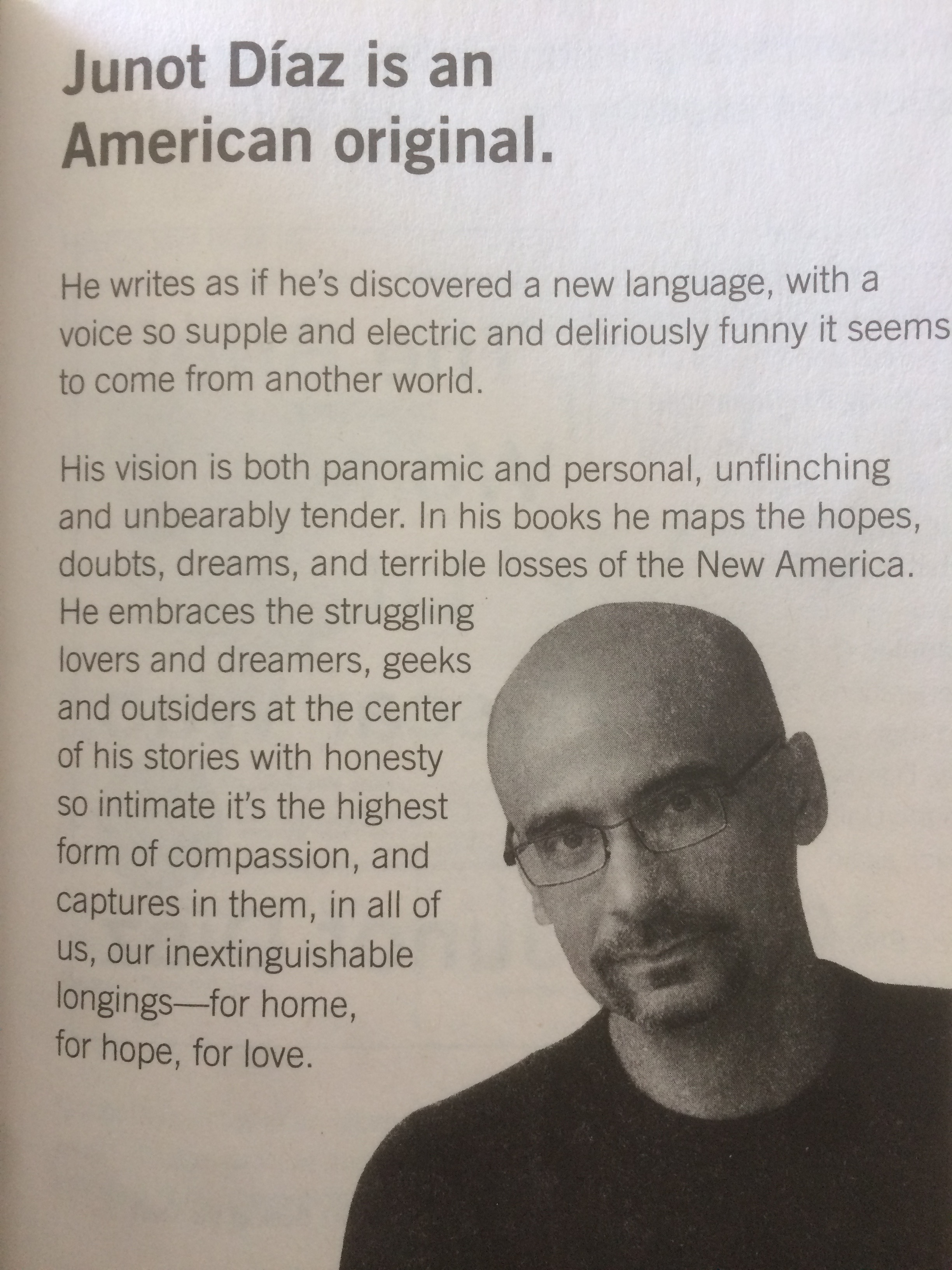 """Being An €�american Original"""": Frameworks For Teaching Texts By Junot Diaz   Welcome To Pedagogy & American Literary Studies"""
